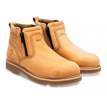 Lumberjacks Dual Zip Steel Toe Ankle Boot